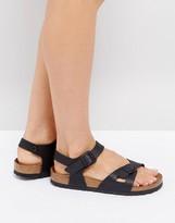 Birkenstock Rio Flor Black Flat Sandals