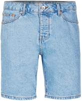 Topman Light Blue Slim Denim Shorts