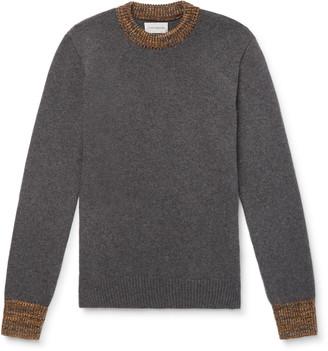 Oliver Spencer Slim-Fit Blenheim Melange-Trimmed Wool Sweater