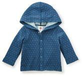 Tea Collection Newborn Reversible Hoodie Jacket in Blue