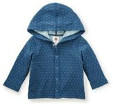 Tea Collection Reversible Hoodie Jacket in Blue
