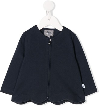 Il Gufo Scalloped-Hem Zip Jacket