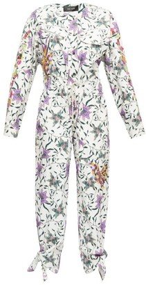 Isabel Marant Gigi Embroidered Floral-print Jumpsuit - White Multi