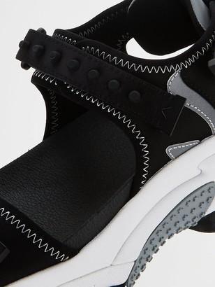 Ash Adapt Wedge Sandal - Black/Silver