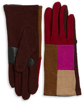 Echo Colorblocked Cashmere-Blend Touch Gloves