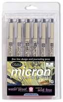 Sakura 6-Pen Set - Black Ink