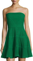 See by Chloe Strapless Eyelet Fit-&-Flare Dress, Green