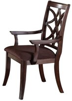 Acme 60258 Keenan Arm Chair, Walnut Finish, Set of 2