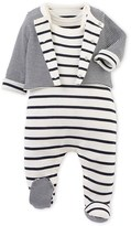 Petit Bateau Baby pajamas and cardigan set
