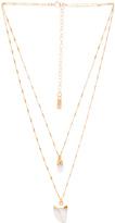 Natalie B Moonstone Pendant Double Layer Necklace