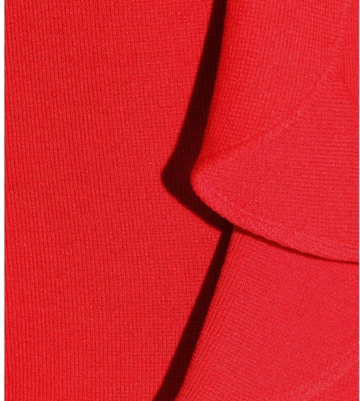 Giambattista Valli CREPE KNIT DRESS WITH RUFFLED TRIM