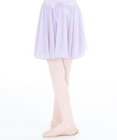 Capezio Lavender Bow Chiffon Skirt - Toddler & Girls