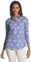 Chico's Effortless Damask Beatrice Shirt