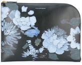 Alexander McQueen floral print curved clutch