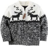Carter's Fair Isle Zip-Front Cardigan