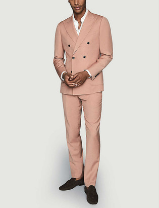 Reiss Exquisite slim-fit wool-blend trousers