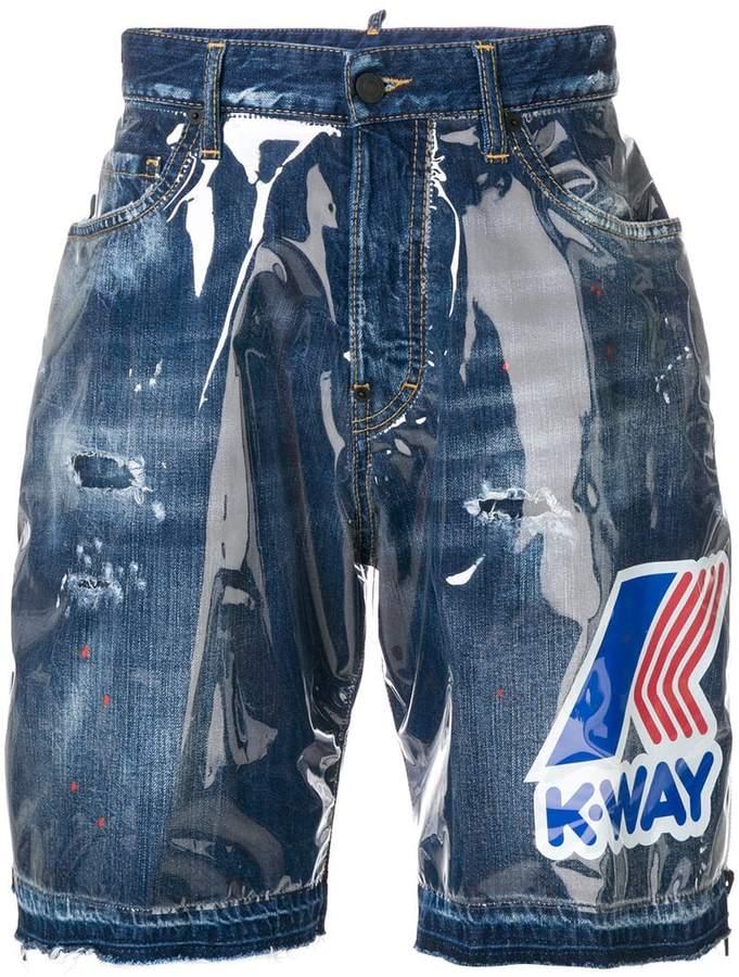 DSQUARED2 K-way denim shorts