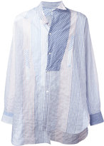 Loewe deconstructed striped shirt - men - Cotton/Polyurethane - S