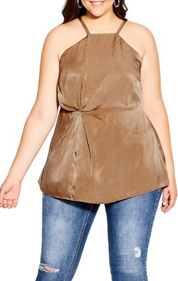City Chic Origami High Neck Top