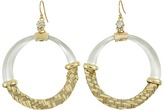 Alexis Bittar Woven Raffia Hoop Wire Earrings Earring