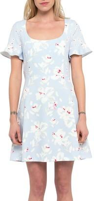 French Connection Alba Scoop Neck Mini Dress, Sea Breeze