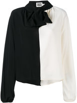 Fausto Puglisi contrast pussy bow blouse - women - Silk - 40