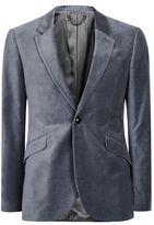 Topman Grey Velvet Blazer
