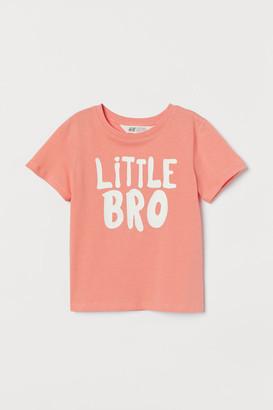 H&M Short-sleeved Sibling Top - Orange