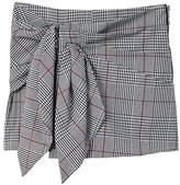 MANGO Knot Check Shorts