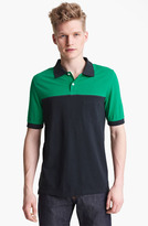 Band Of Outsiders Colorblock Pique Polo