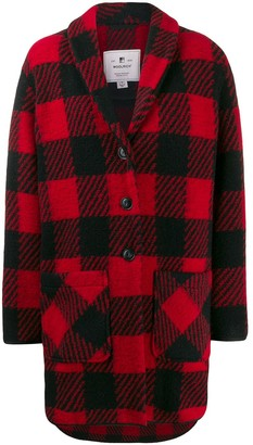 Woolrich Buffalo Print Button-Up Coat