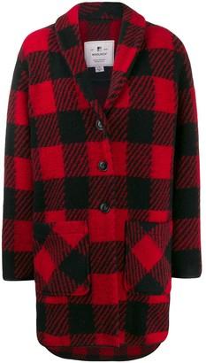 Woolrich buffalo print button-up coat