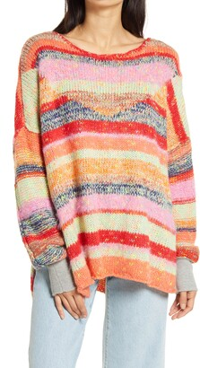 Free People String Lights Oversize Sweater