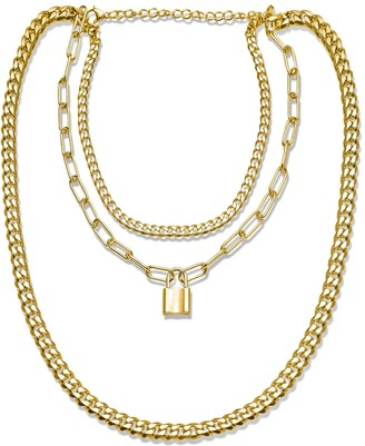 Opes Robur Gold Triple Layer Chain