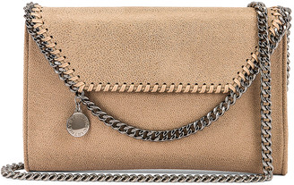 Stella McCartney Mini Falabella Shaggy Deer Crossbody Bag in Butter Cream | FWRD