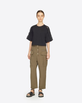 3.1 Phillip Lim Embellished Cropped T-Shirt
