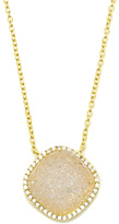 Marcia Moran White Druzy Diamond Necklace