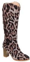 Brinley Co. Womens Comfort Wide Calf Microsuede Mid-calf Boot
