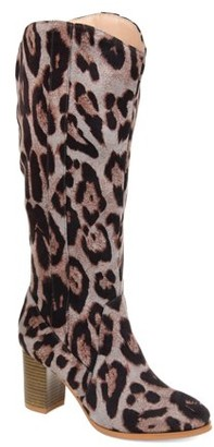 Brinley Co. Womens Comfort Wide Calf Microsuede Mid-calf Boot
