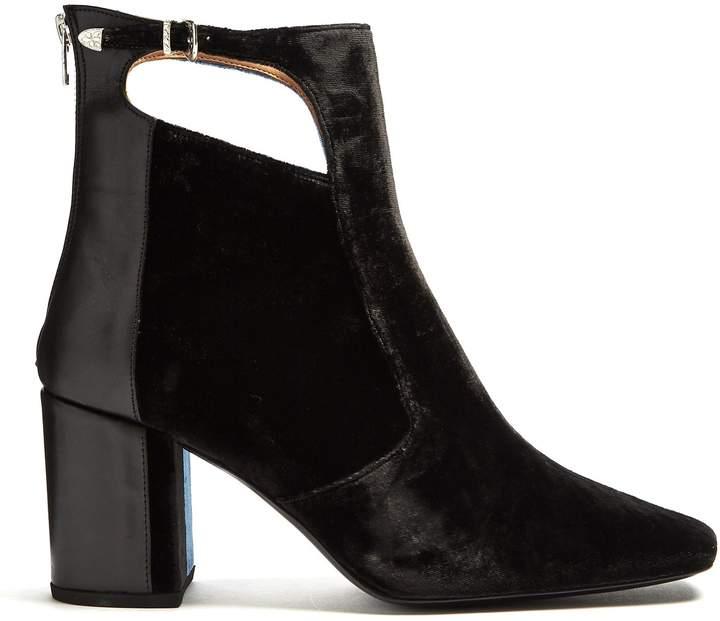 Toga Bi-colour velvet ankle boots