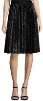 Vivienne Tam Lame Pleated Skirt