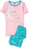 Crazy 8 Moon 2-Piece Shortie Pajama Set