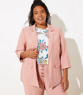 LOFT Plus 3/4 Sleeve Open Blazer
