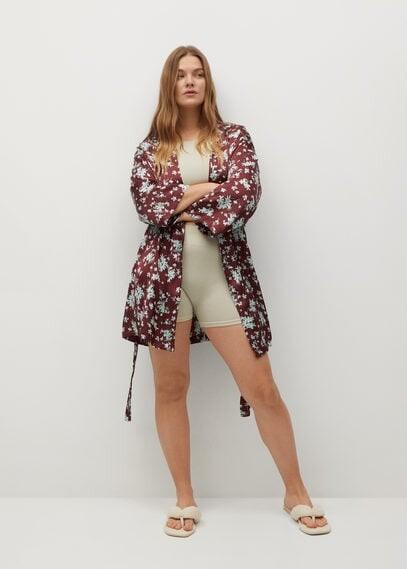 Thumbnail for your product : MANGO Printed kimono jacket