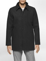 Calvin Klein Wool Blend Car Coat