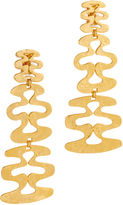 Ben-Amun Long Wavy Clip On Earrings