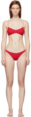 Solid and Striped Red The Rachel Bikini