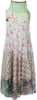 Missoni Contrast Pattern Silk Dress