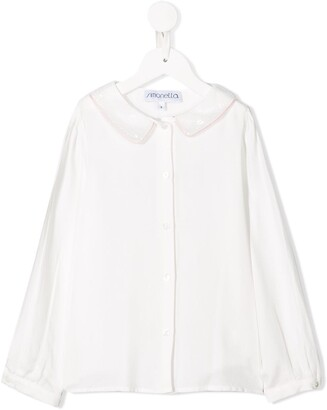 Simonetta Sequin-Embellished Collar Shirt