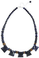 Lord & Taylor Sodalite & Picture Jasper Bead Necklace